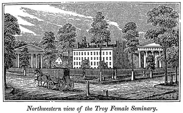 1841 Photograph - Troy Female Seminary, 1841 by Granger