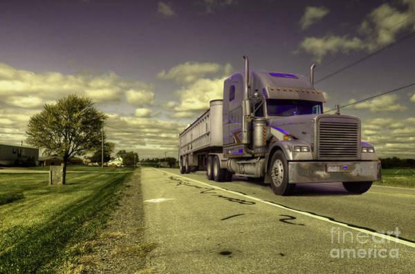 Peterbilt Photograph - Truck On  by Rob Hawkins