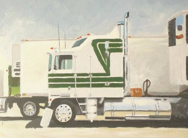 Kenworth Painting - Truck Show 1986 by Chad Atkins
