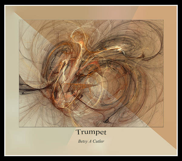 Fractal Design Digital Art - Trumpet by Betsy Knapp