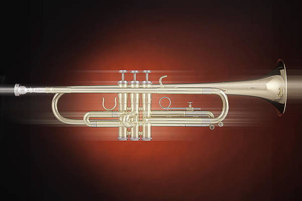 Photograph - Trumpet In Motion by M K Miller