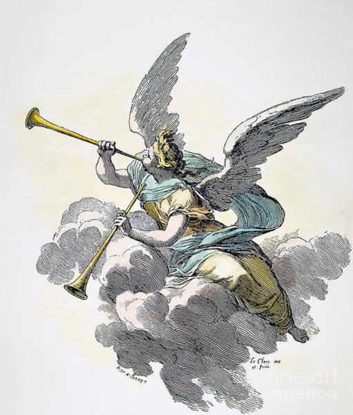Photograph - Trumpeting Angel, 19th C by Granger