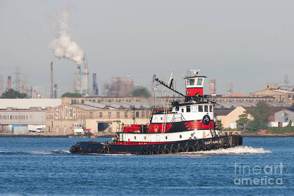 Photograph - Tugboat Captain D In Newark Bay I by Clarence Holmes