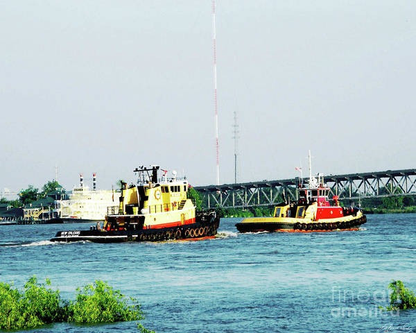 Photograph - Tugs In High Water At Red Stick 2011 by Lizi Beard-Ward