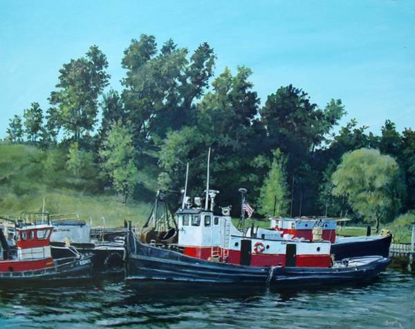 Painting - Tugs by William Brody