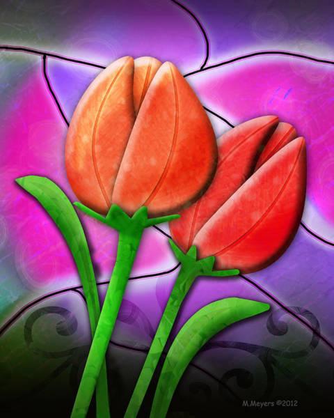 Wall Art - Digital Art - Tulip Glass by Melisa Meyers