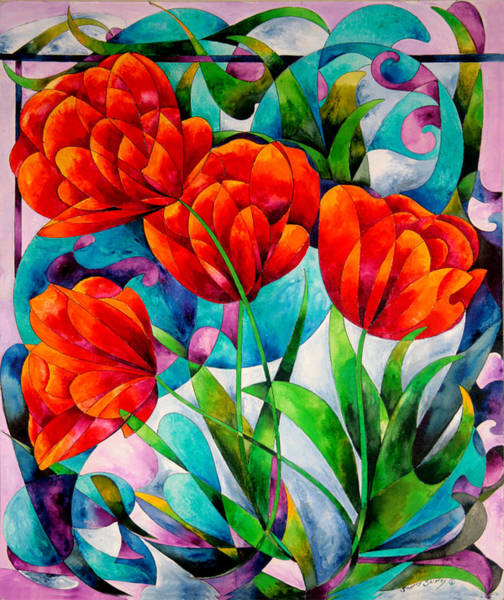 Painting - Tulip Quartet by Sherry Shipley