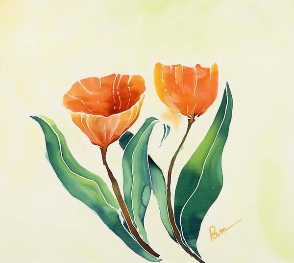 Wall Art - Painting - Tulips 3 by Pam Munn
