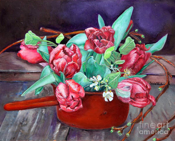 Wall Art - Painting - Tulips by Portraits By NC