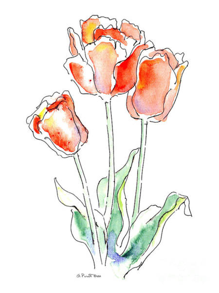 Painting - Tulips Flower Paintings 1 by Gordon Punt