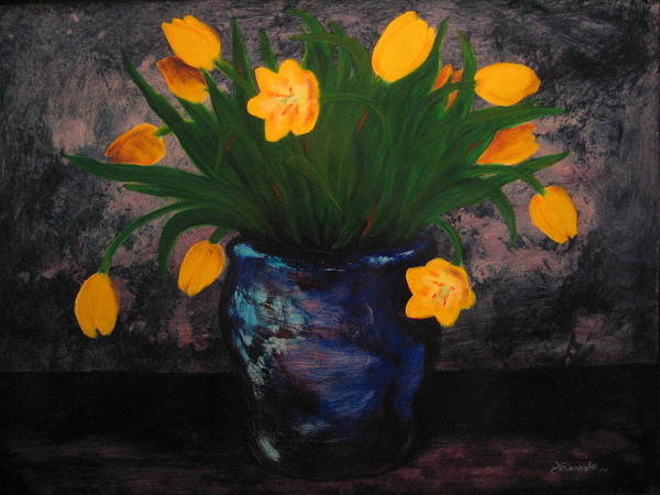 Painting - Tulips In Blue by Jason Reinhardt