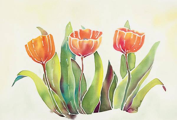 Wall Art - Painting - Tulips by Pam Munn