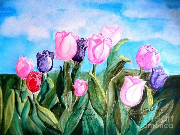 Dutch Tulip Painting - Tulips To Honor St. Plechelm by Susan Lee Clark