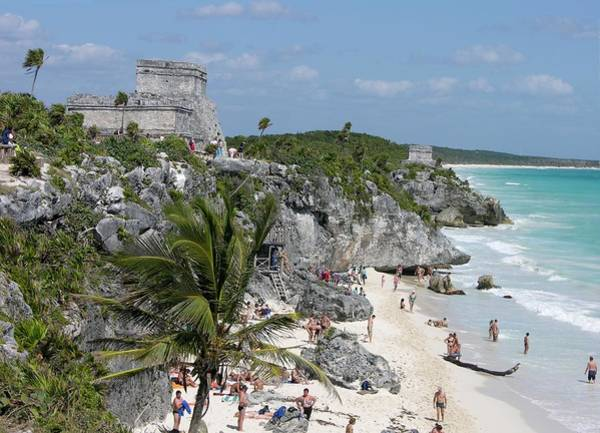 Photograph - Tulum Ruins And Beach by Keith Stokes