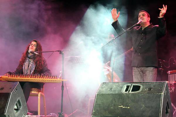 Manger Photograph - Turab Band In Bethlehem At Manger Square by Munir Alawi