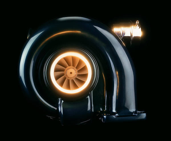 Compressor Photograph - Turbocharger by Mark Sykes