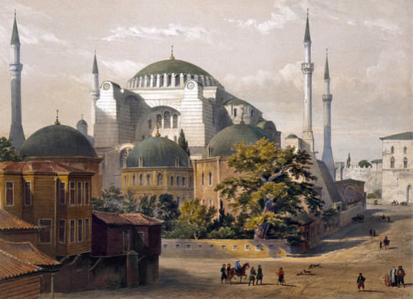 Photograph - Turkey: Hagia Sophia, 1852 by Granger