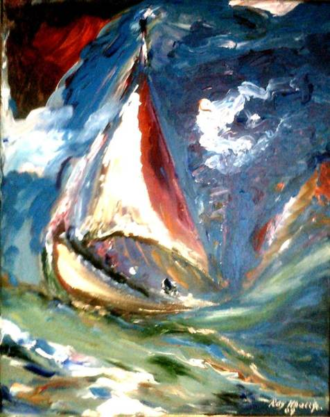 Painting - Turmoil by Ray Khalife