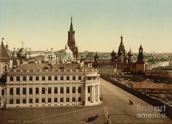 Imperial Russia Photograph - Turn Of The Century Kremlin, Moscow by Photo Researchers