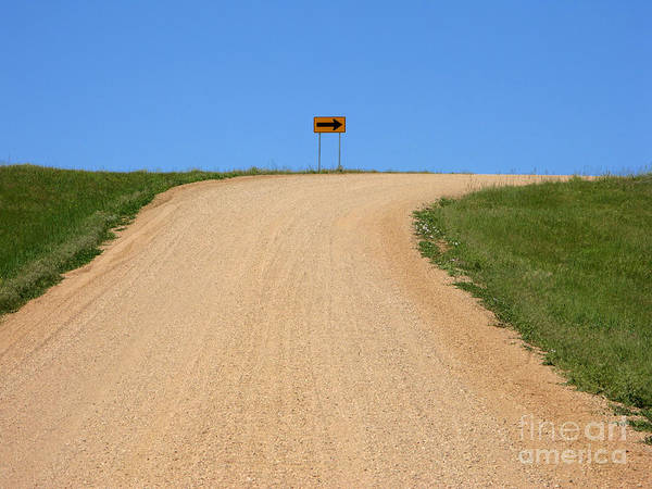 Gravel Road Photograph - Turn by Olivier Le Queinec