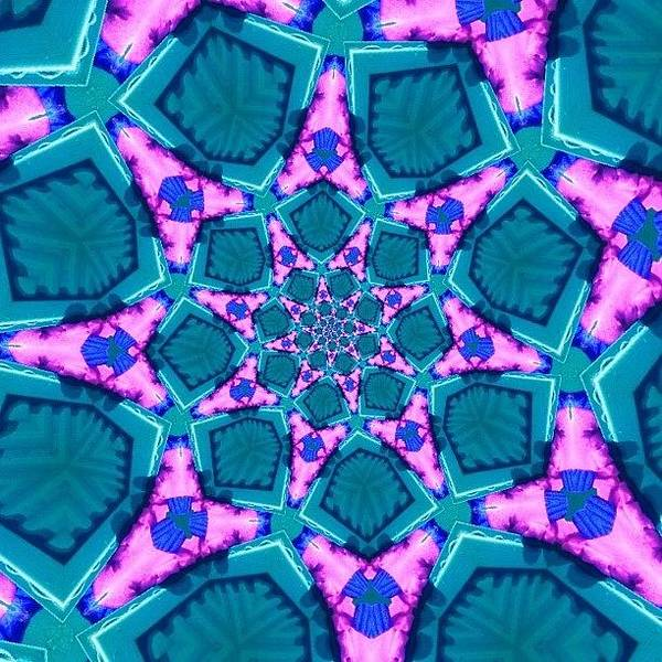 Fractal Wall Art - Photograph - #turquoise And #pink #meditating by Pixie Copley