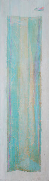 Emanate Painting - Turquoise Remembrance Door   Tribute To Hari E. Thomas by Asha Carolyn Young