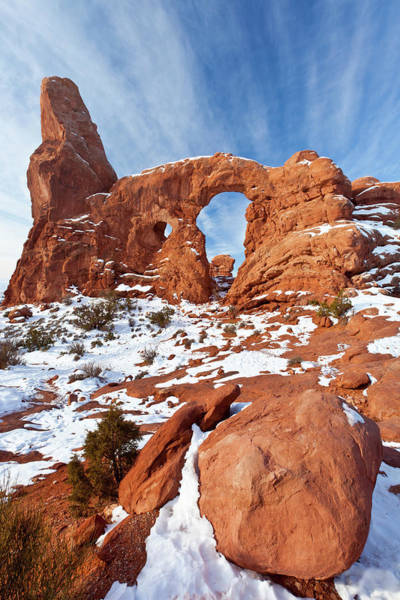 Photograph - Turret Arch In Winter by D Robert Franz
