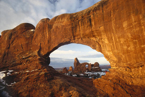 Photograph - Turret Arch Through North Window Arch by Tim Fitzharris