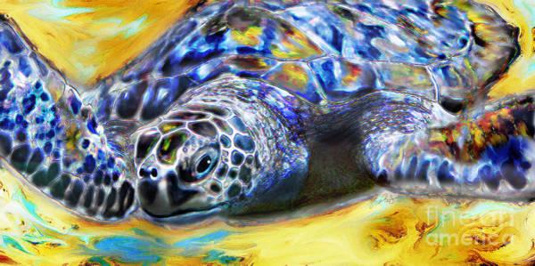 Digital Art - Turtle by Lisa Redfern