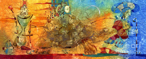 Wall Art - Mixed Media - Turtle by Svetlana and Sabir Gadghievs