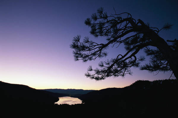 Donner Photograph - Twilight Over Donner Lake by Phil Schermeister
