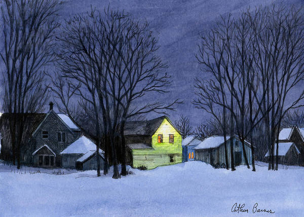 Ashes Painting - Twilight Snow by Arthur Barnes