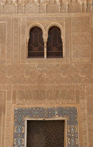 Photograph - Twin Windows Alhambra by David Kleinsasser