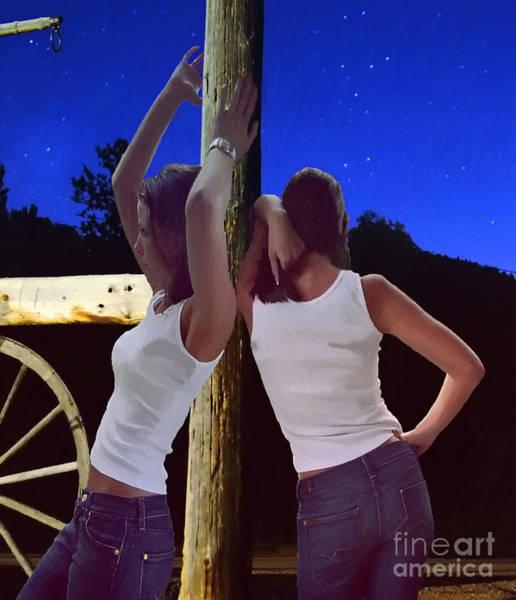 Mixed Media - Twins by Jerry L Barrett