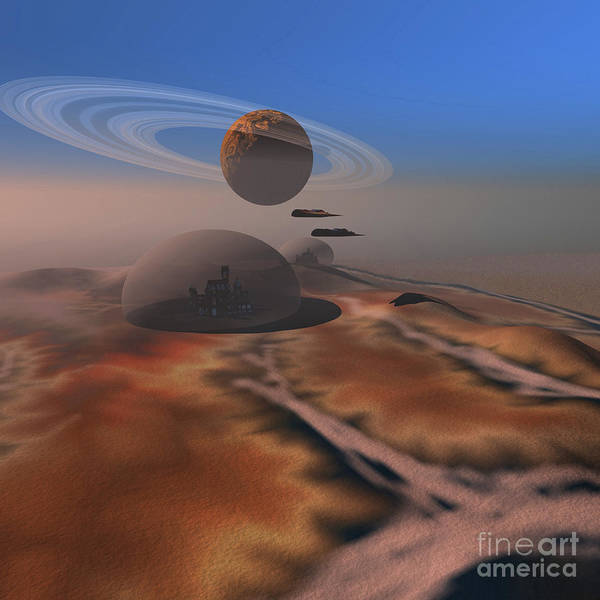 Digital Art - Two Aircraft Fly Over Domes by Corey Ford