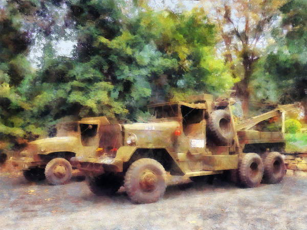 Photograph - Two Army Trucks by Susan Savad