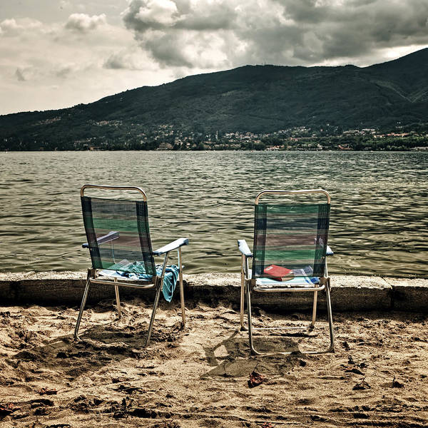 Lake Maggiore Photograph - Two Chairs by Joana Kruse