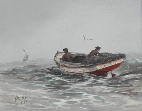 Painting - Two Fishermen by Gary Partin