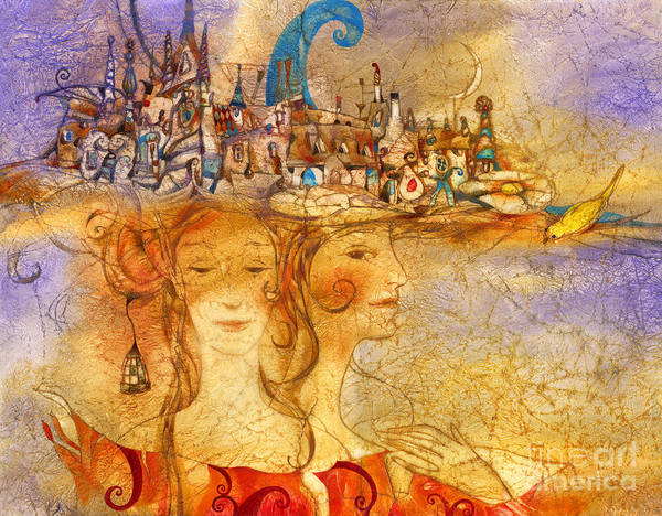 Wall Art - Mixed Media - Two Graces by Svetlana and Sabir Gadghievs