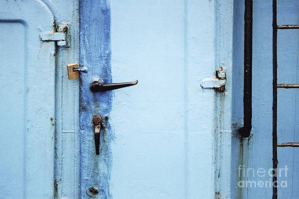 Photograph - Two Handles And A Padlock by Agnieszka Kubica