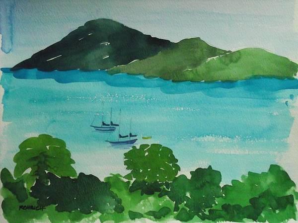 Us Virgin Islands Painting - Two Schooner's by Robert Rohrich