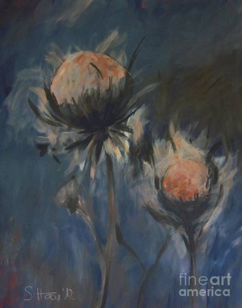 Wall Art - Painting - Two Thistles by Sabina Haas