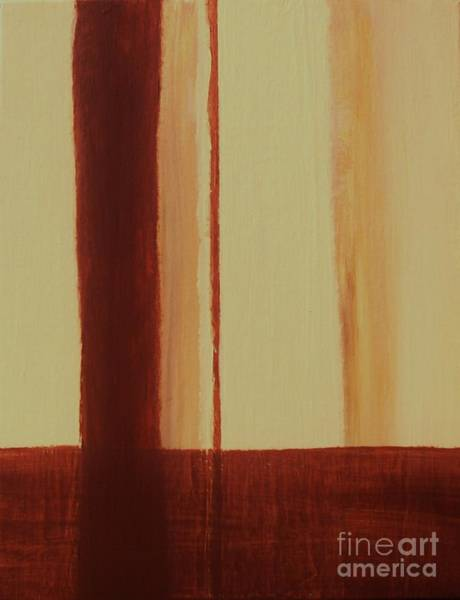 Burnt Sienna Wall Art - Painting - Two Toned by Marsha Heiken