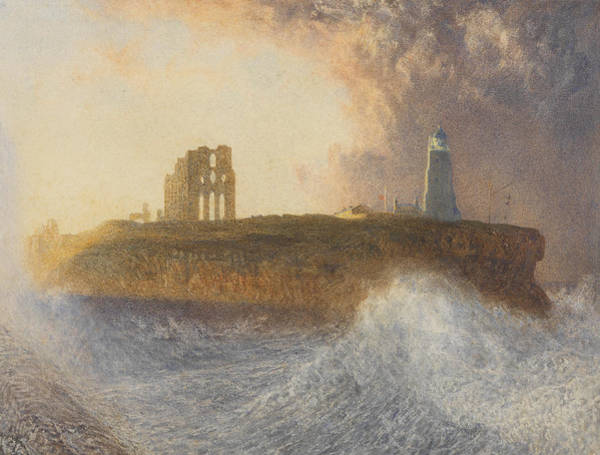 Atmospheric Painting - Tynemouth Pier by Alfred William Hunt