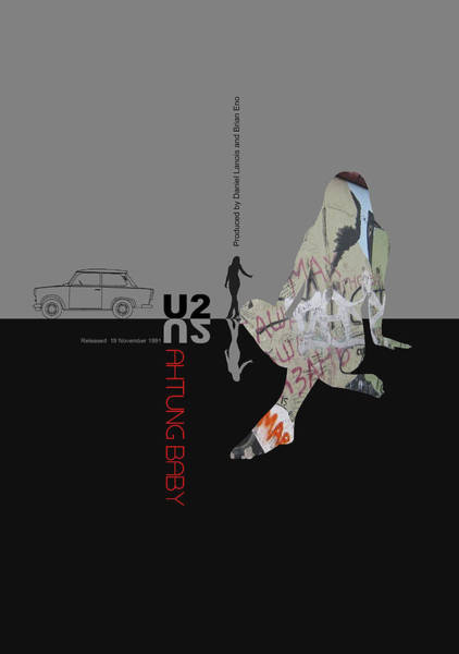 Baby Digital Art - U2 Poster by Naxart Studio