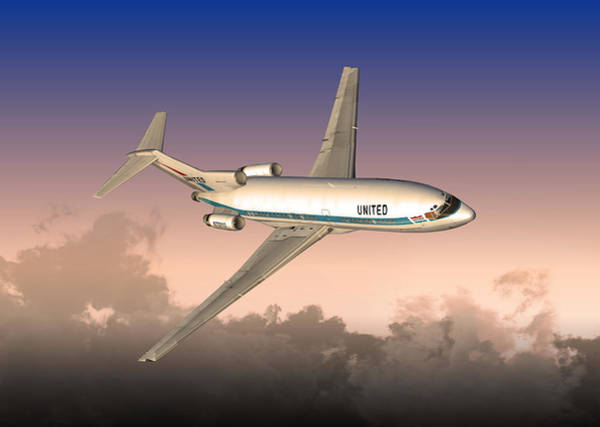 Digital Art - Ual 727 01 by Mike Ray