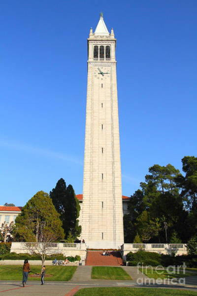 Photograph - Uc Berkeley . Sather Tower . The Campanile . Clock Tower . 7d10059 by Wingsdomain Art and Photography