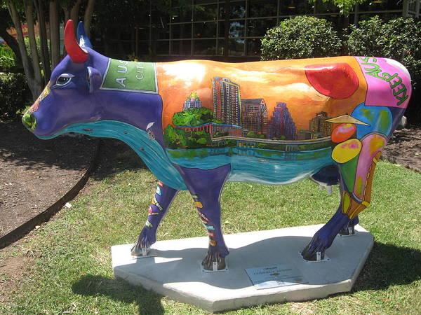 Painting - Udderly Austin Side View by Patti Schermerhorn