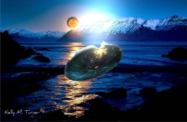 Mountaineer Digital Art - Ufo Invader  by Kelly Turner