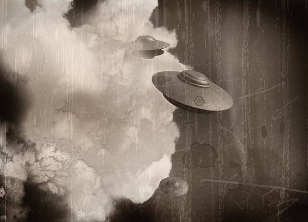 Ufology Photograph - Ufos, Artwork by Victor Habbick Visions